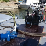 Hydraulic driven dredging pump